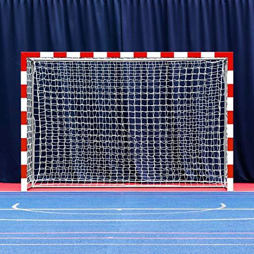 FORZA Alu80 Handball Tore für Wettbewerbe │ Professionelle Tore für Turnier (Rot und Weiß, Einzeln)
