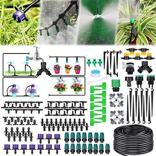Jeteventy 40M Bewässerungssystem Garten,163Pcs Mikro Drip Bewässerungssets, Automatik Tröpfchenbewässerung...