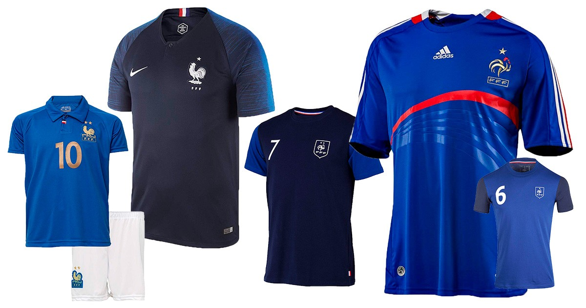 Frankreich-Trikots