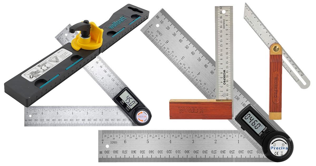 wolfcraft 6921000 1 Winkelschmiege mit automatischer Winkelhalbierenden