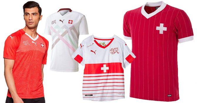 Schweiz-Trikots