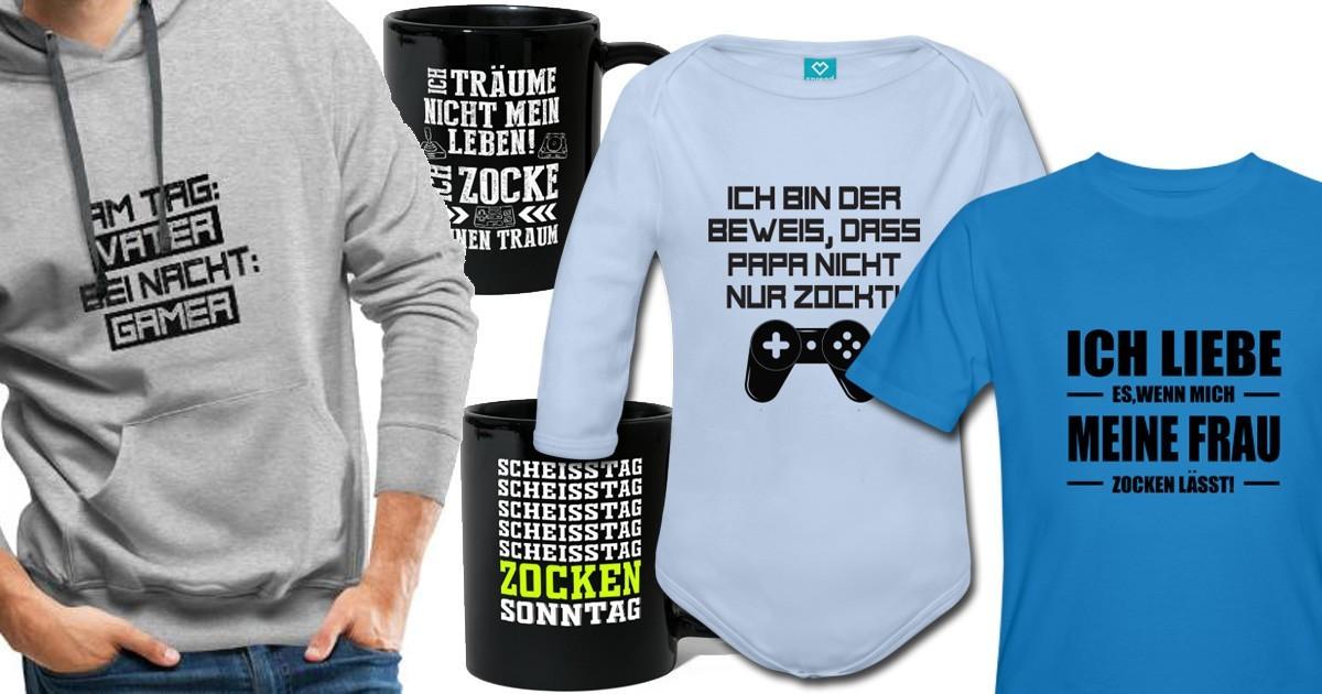 Gamer-Sprüche-Shirts