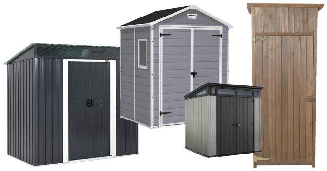 Gartenhütten zur Aufbewahrung