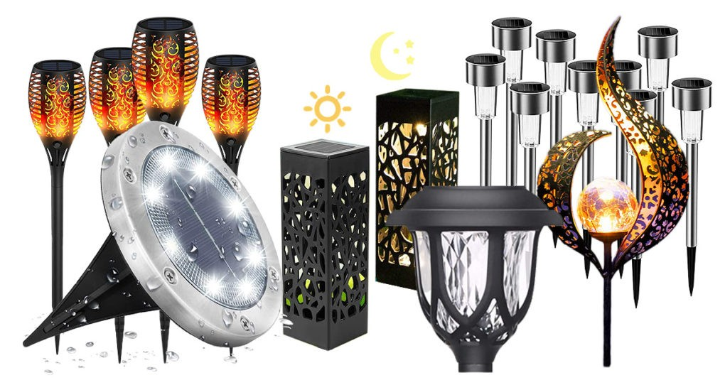Solarleuchten-Garten